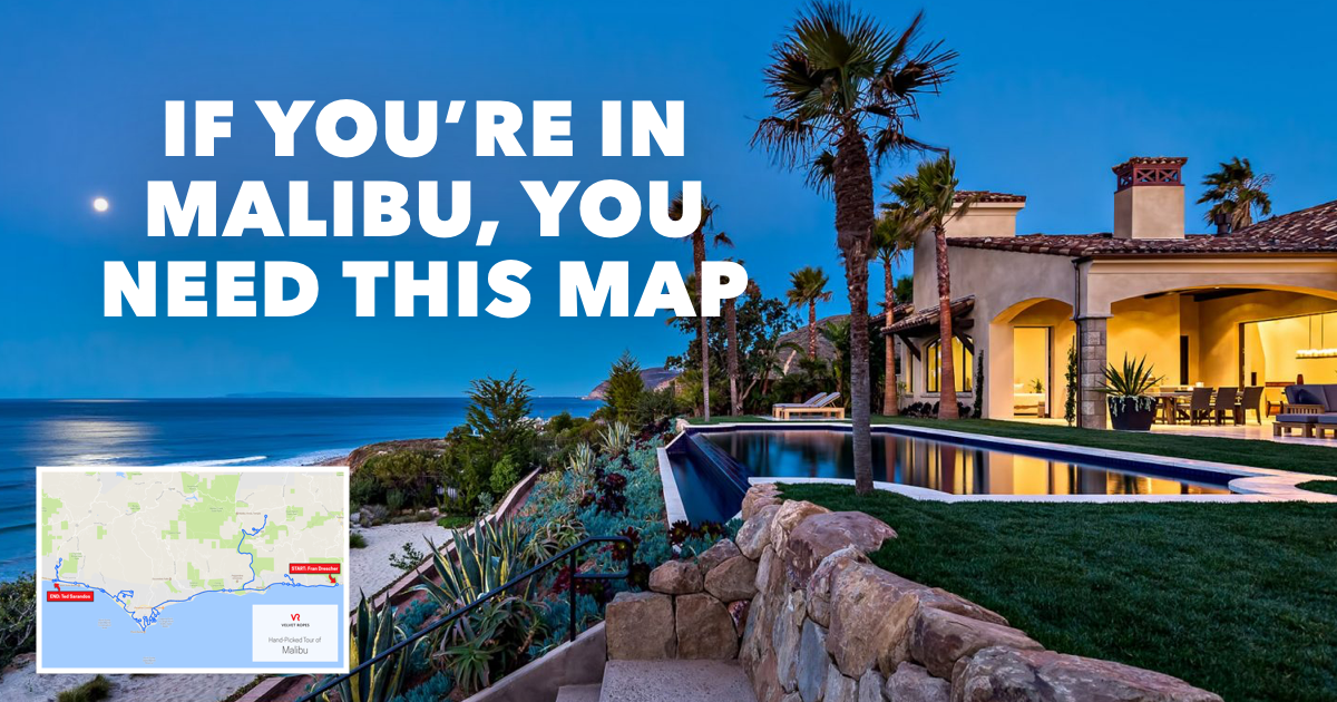 Malibu Celebrity Homes Map Featured