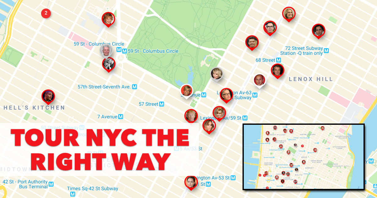 NYC Celebrity Map Featured