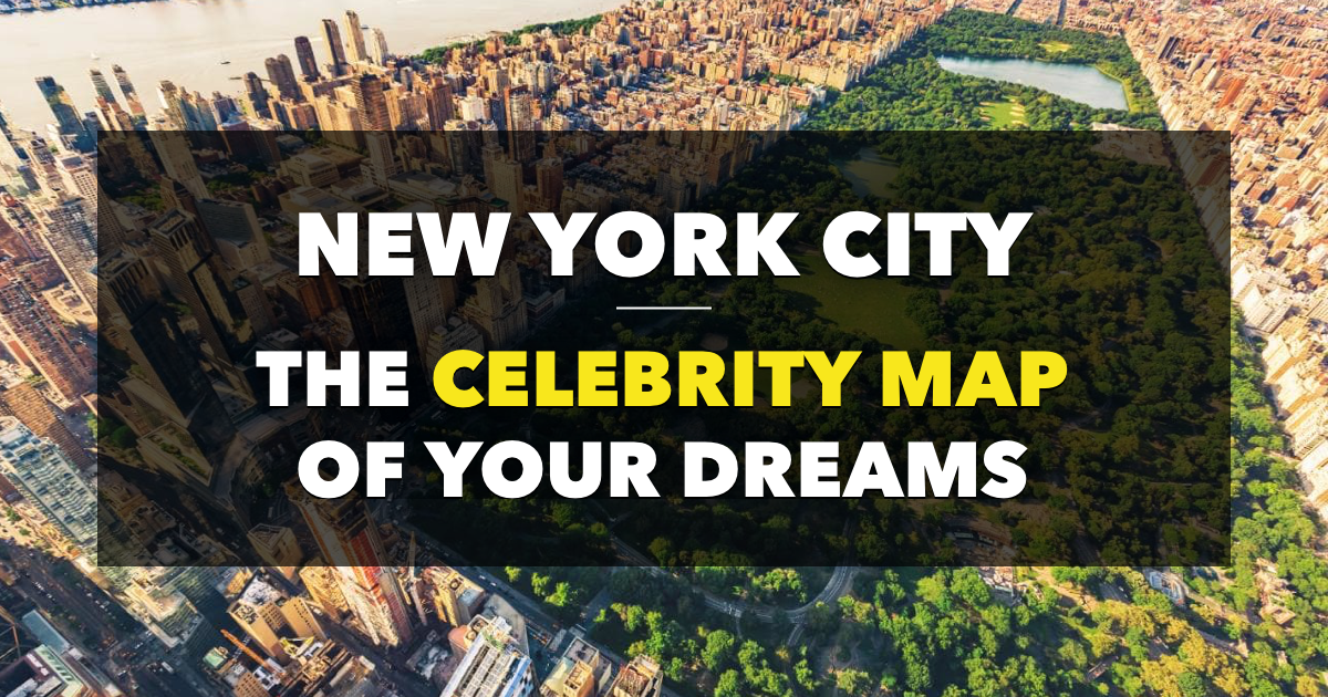 Celebrities in NYC Map : Map of the Stars NYC